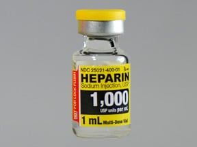 heparin (porcine) 1,000 unit/mL injection solution