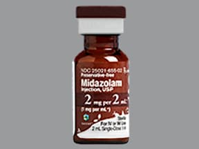 midazolam (PF) 1 mg/mL injection solution