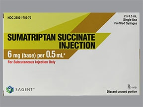 sumatriptan 6 mg/0.5 mL subcutaneous syringe