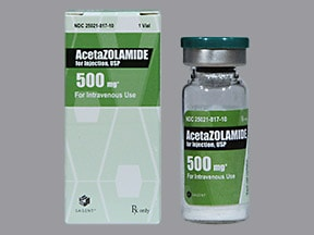 acetazolamide 500 mg solution for injection