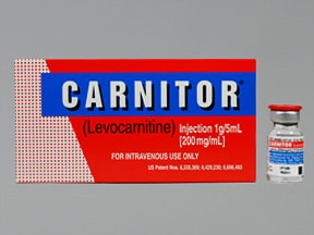 Carnitor 200 mg/mL intravenous solution