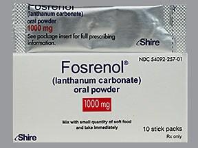 Fosrenol 1,000 mg oral powder packet