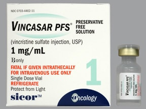 Vincasar PFS 1 mg/mL intravenous solution