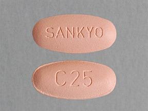 olmesartan 40 mg-hydrochlorothiazide 25 mg tablet