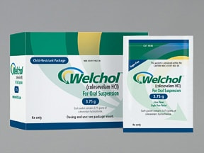 WelChol 3.75 gram oral powder packet