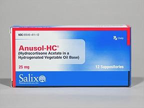 Anusol-HC 25 mg rectal suppository
