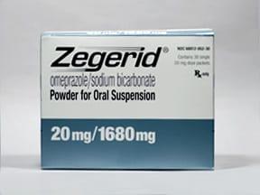 Zegerid 20 mg-1,680 mg oral packet