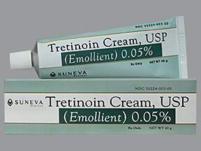 tretinoin (emollient) 0.05 % topical cream