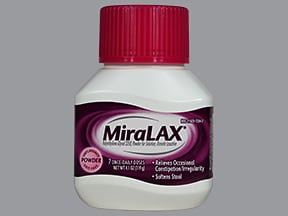 Miralax 17 gram/dose oral powder