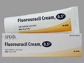 fluorouracil 0.5 % topical cream