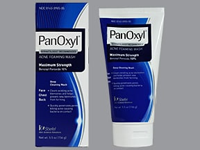 Panoxyl 10 % topical cleanser