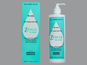 Zencia 9 %-4 % topical cleanser