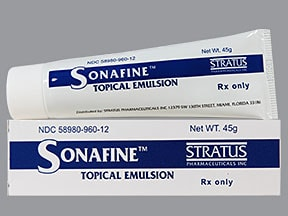 Sonafine topical emulsion
