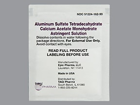 Astringent 952 mg-1,347 mg topical powder in packet