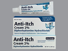 Anti-Itch (diphenhydramine) with Zinc 2 %-0.1 % topical cream