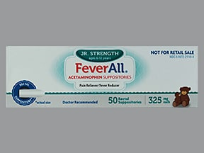 Feverall 325 mg rectal suppository