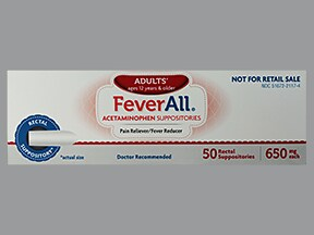 Feverall 650 mg rectal suppository