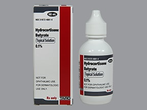 hydrocortisone butyrate 0.1 % topical solution