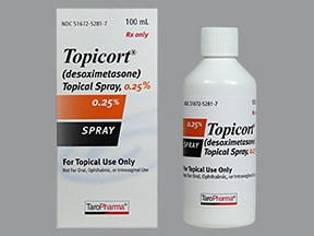 Topicort 0.25 % topical spray
