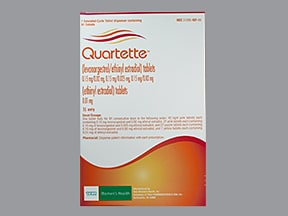 Quartette 0.15 mg-20 mcg/0.15 mg-25 mcg tablets,3 month dose pack