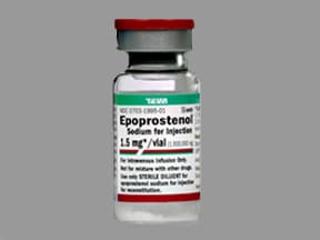 epoprostenol (glycine) 1.5 mg intravenous solution