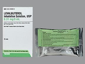 levalbuterol 0.31 mg/3 mL solution for nebulization