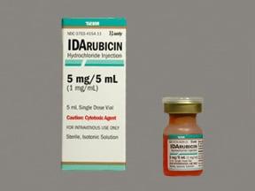idarubicin 1 mg/mL intravenous solution