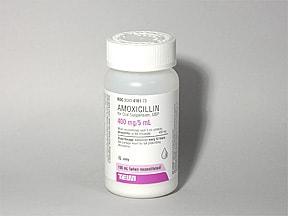amoxicillin 400 mg/5 mL oral suspension