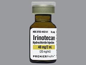 irinotecan 40 mg/2 mL intravenous solution