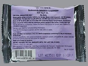 budesonide 0.5 mg/2 mL suspension for nebulization