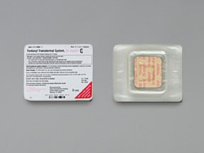 fentanyl 25 mcg/hr transdermal patch