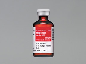 haloperidol lactate 5 mg/mL injection solution