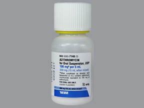 azithromycin 100 mg/5 mL oral suspension