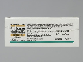 amikacin 1,000 mg/4 mL injection solution