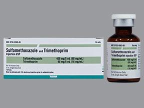 sulfamethoxazole 400 mg-trimethoprim 80 mg/5 mL intravenous solution