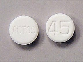 Actos 45 mg tablet