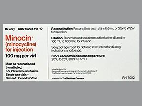 Minocin 100 mg intravenous solution