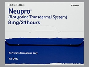 Neupro 8 mg/24 hour transdermal 24 hour patch