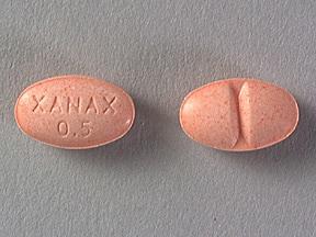 Xanax 0.5 mg tablet