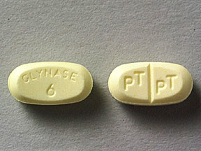 Glynase 6 mg tablet