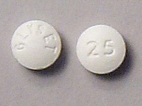 Glyset 25 mg tablet