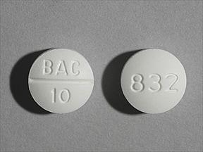 baclofen 10 mg tablet