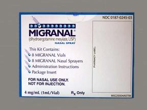 Migranal 0.5 mg/pump act. (4 mg/mL) nasal spray