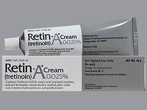 Retin-A 0.025 % topical cream