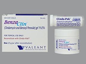 Benzaclin 1 %-5 % topical gel