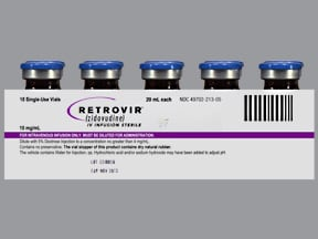 Retrovir 10 mg/mL intravenous solution