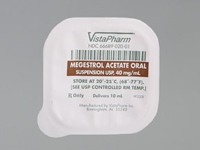 megestrol 400 mg/10 mL (10 mL) oral suspension