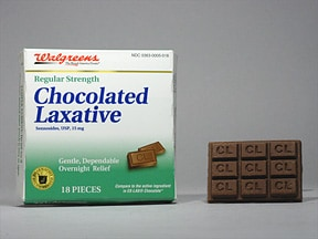 Chocolate Laxative 15 mg chewable tablet