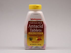 Antacid Extra-Strength 300 mg (750 mg) chewable tablet