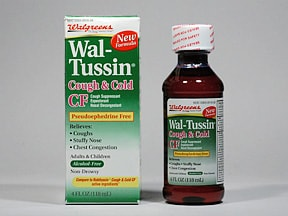 Wal-Tussin Cough and Cold CF 5 mg-10 mg-100 mg/5 mL oral liquid